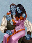 ` Commission - The Elder Scrolls Online - Couple by miltrexenya