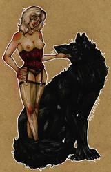 The Doe and the Wolf by Etae