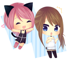 Kiyomi and Calypso by Over16Bit