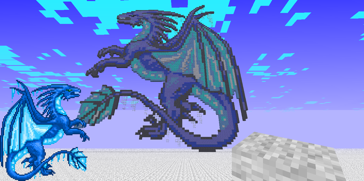 Ice Dragon Pixel Art By Dragondeplatino How To Draw