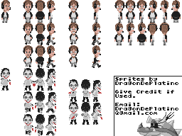 Request - PewDiePie and Jeff Sprite Sheet by DragonDePlatino