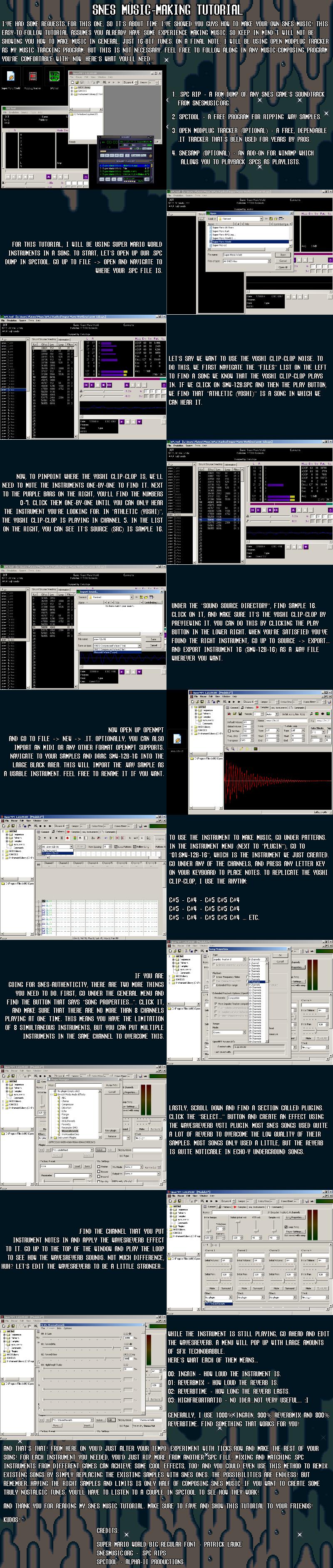 SNES Music-Making Tutorial by DragonDePlatino