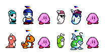 KSS-Style Ufouria Characters by DragonDePlatino