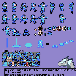 mega man nes sprite sheet by dragondeplatino on deviantart