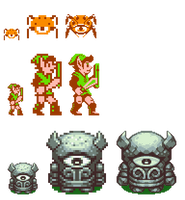 HD Zelda Sprites by DragonDePlatino