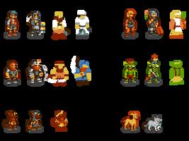 256-Color Dwarf Fortress Sprites by DragonDePlatino