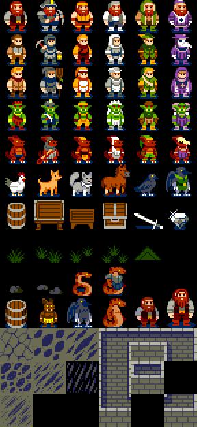 DwarfHack Sprites by DragonDePlatino