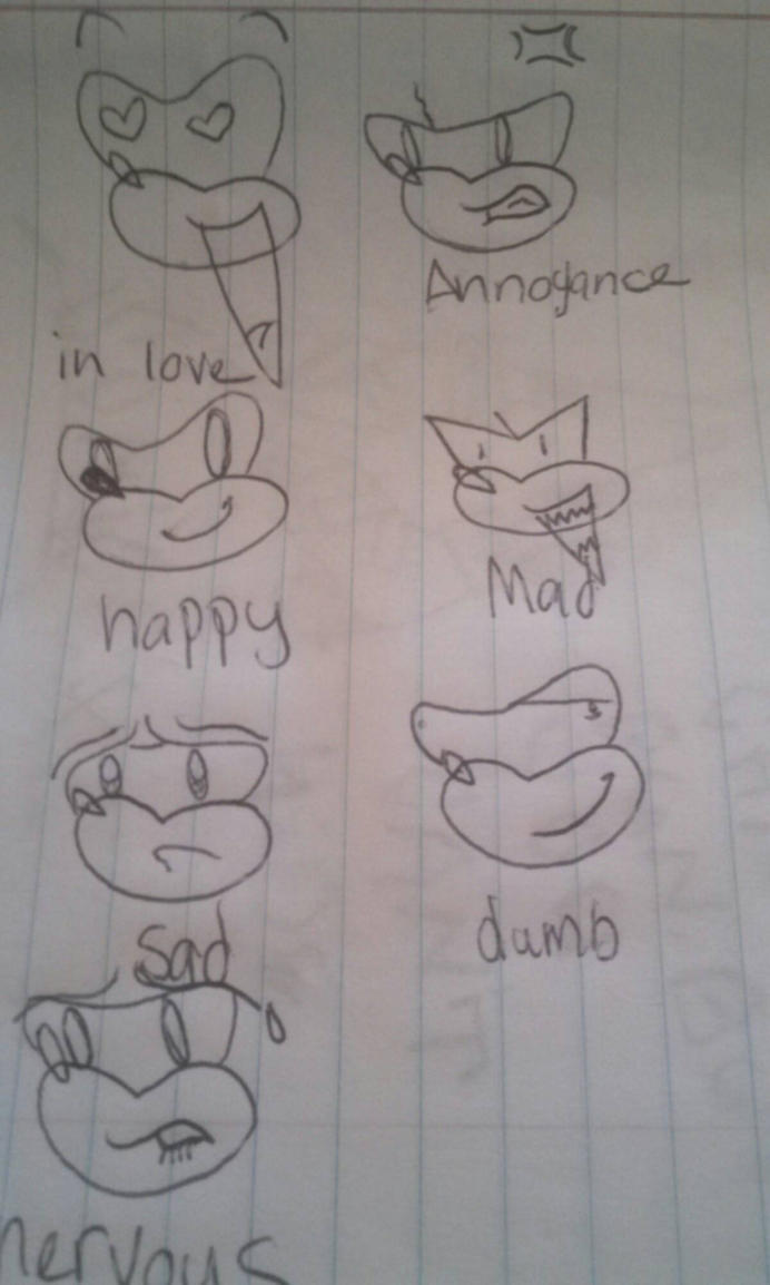 Sonic facial expressions by Clemontiscute123