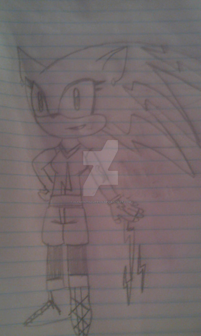 thunder the hedgehog by Clemontiscute123