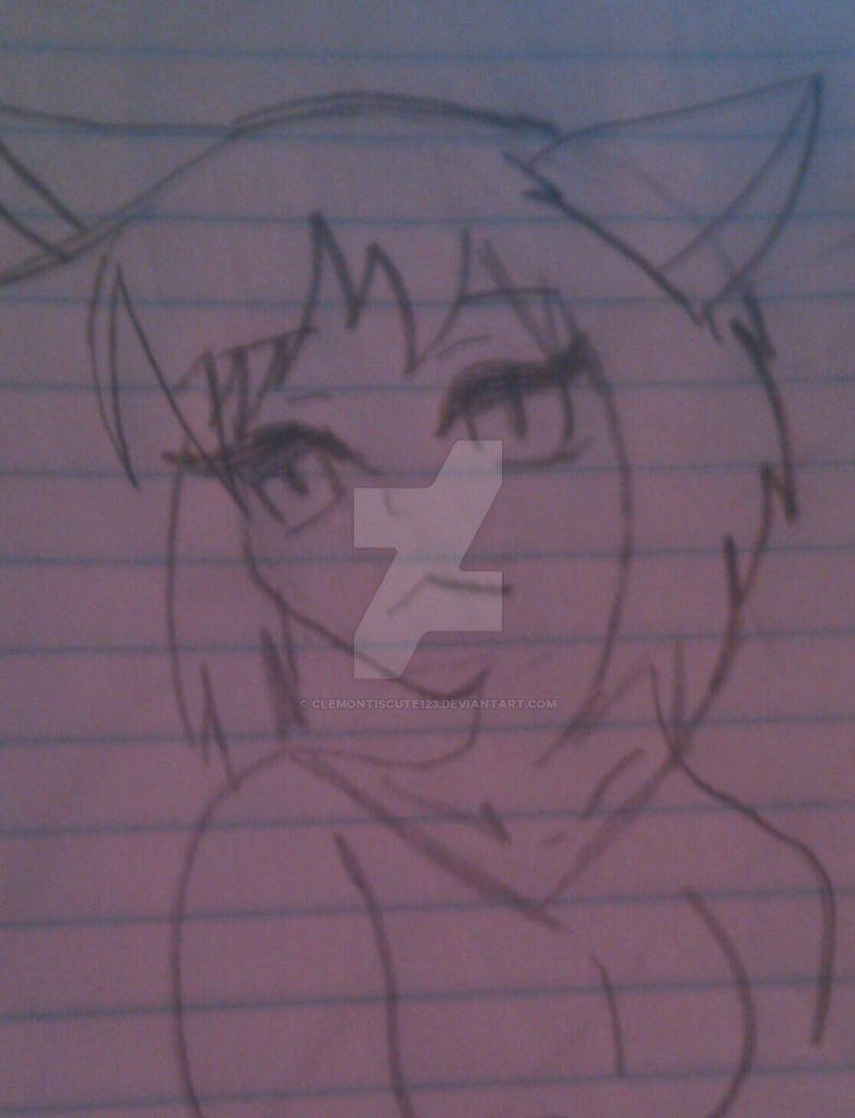 anime cat girl by Clemontiscute123