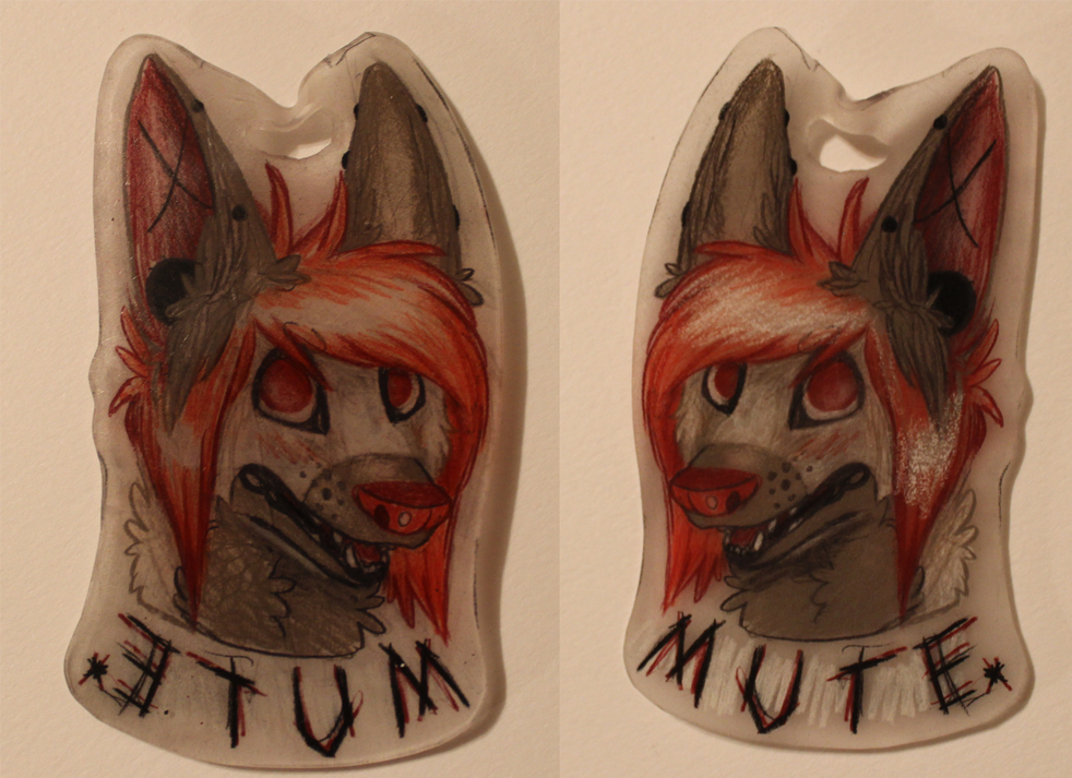 Mute shrinky dink badge!! by Doodle-Dreams