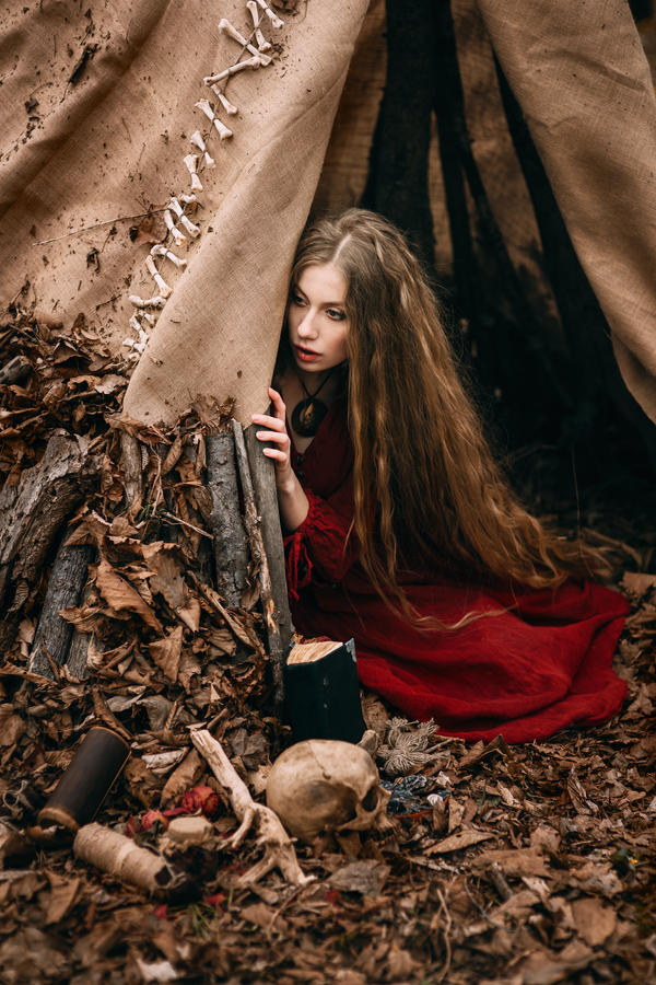 Beautiful Witch Who Lives In The Woods By Black Bl00d On