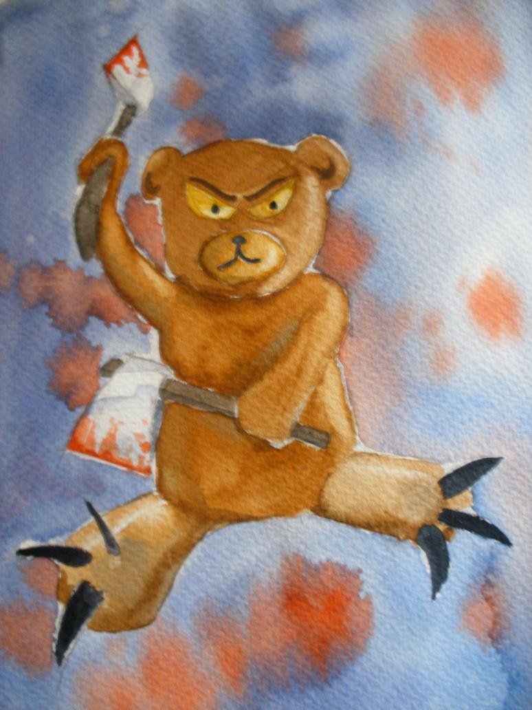 Killer Teddy Bear Drawing