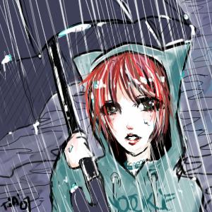 Gaara in the rain by PowderedVinegar