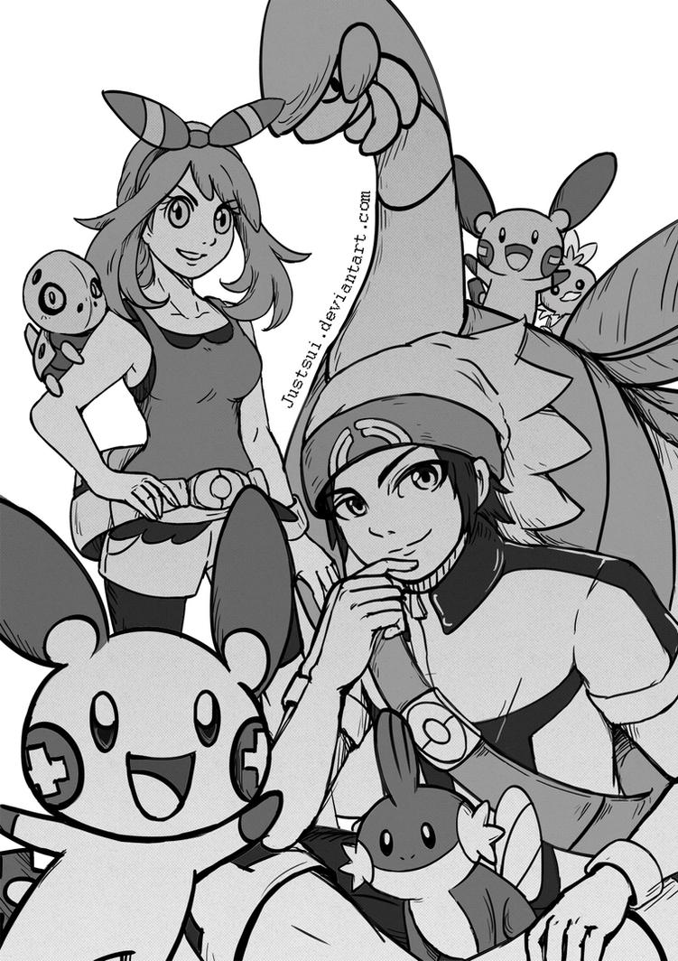 Pokemon : Ruby and Sapphire by Justsui
