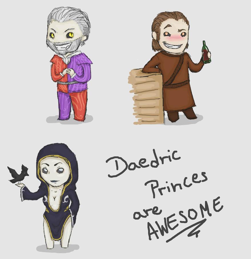 Daedric Sketches by DragonflyArts