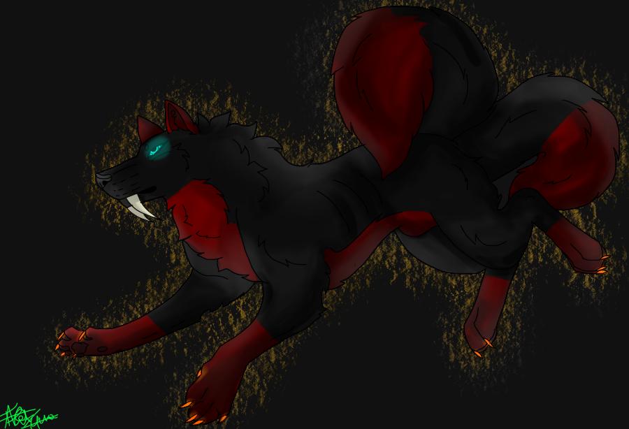 jace wolf speedapint by Wolfsalterego