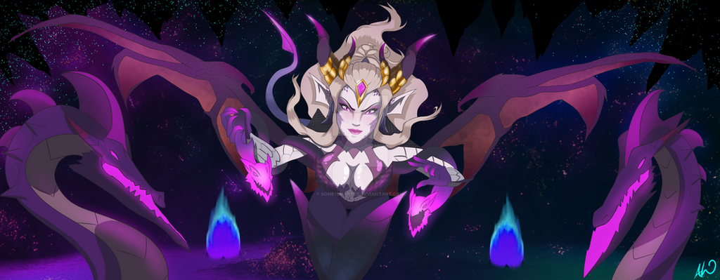 LoL Dragon Sorceress Zyra Commission by Some1smarter