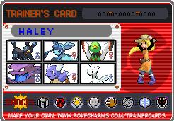 Haley trainer card by PiemastersMasterX