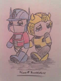 Baby Prime and Bumblebee by Primegirl