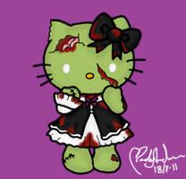 Zombie Hello Kitty by Primegirl