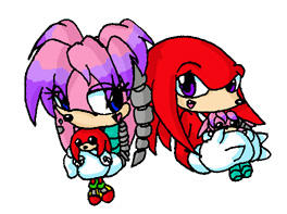 Knux and Julie-Su Plush Hugs by bluefantasy