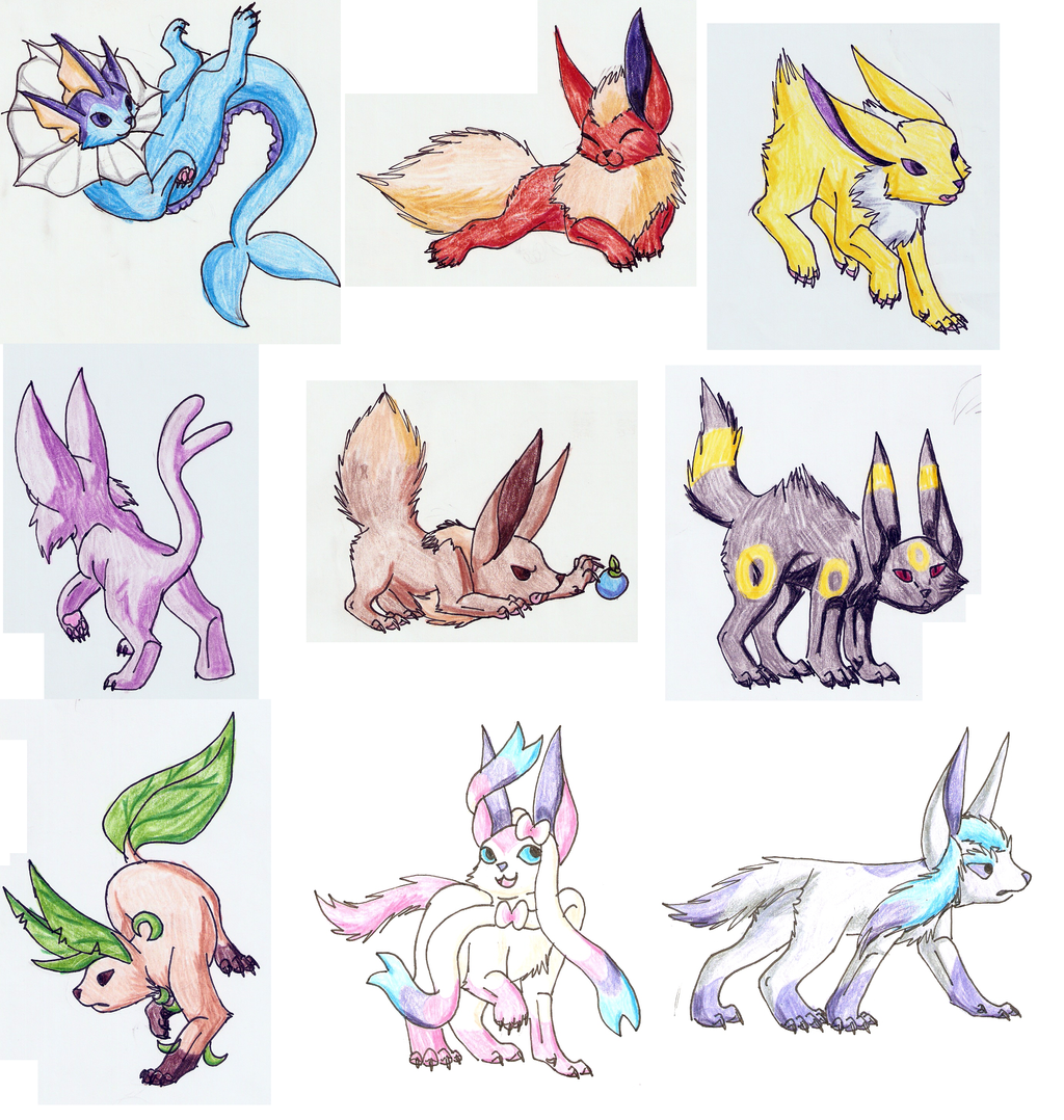 Draw ALL The Eeveelutions By Yestolgia On DeviantArt