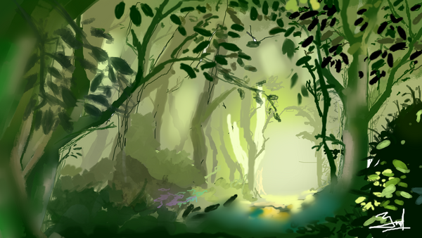 Practice : Green Forest by yudanf