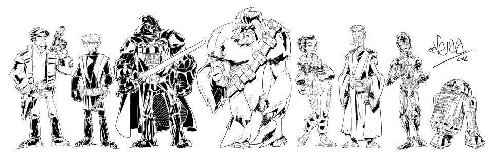 star wars characters by eduardo ferrara by spacegoatproductions on