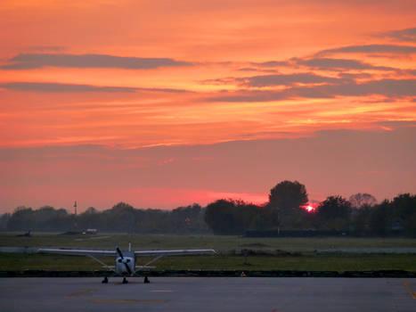 Sunset Cessna