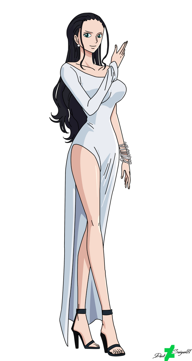 Nico Robin in Her  Best Dress ( Coloured Version ) by DarkSaiyan21