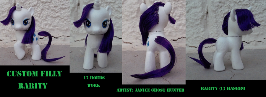Custom Filly Rarity by janiceghosthunter