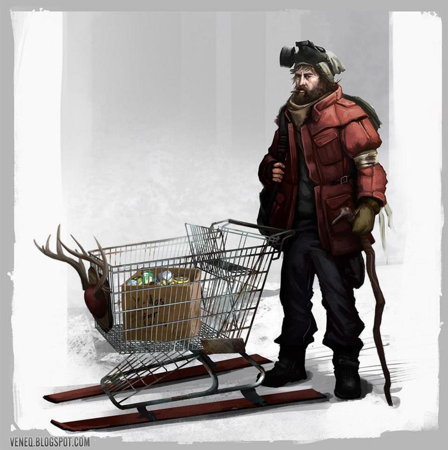 Post Apocalyptic Santa by Veneq