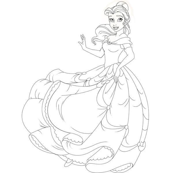 Belle Line Art by Sugargrl14