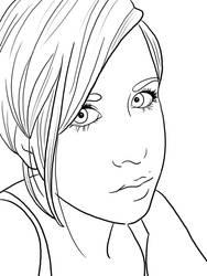 A Drawing Of Me - Line Art by Sugargrl14
