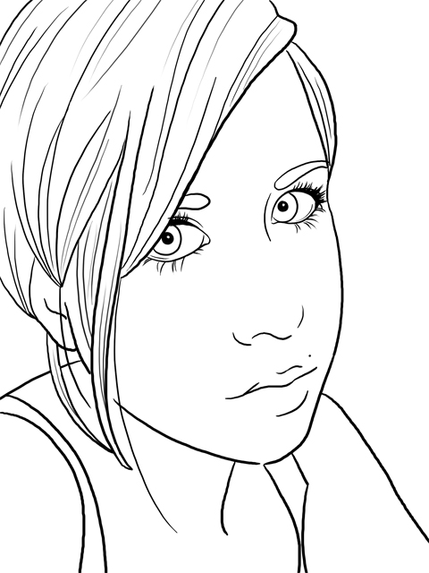 Line Drawing Images : A drawing of me line art by sugargrl on deviantart