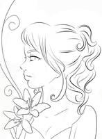 Lily - Line Art by Sugargrl14