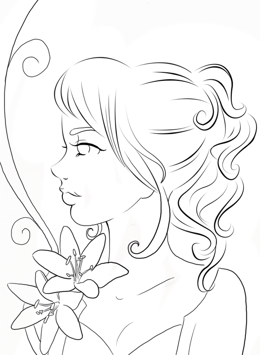 Line Drawing Images : Lily line art by sugargrl on deviantart