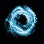 Swirling Blue Water