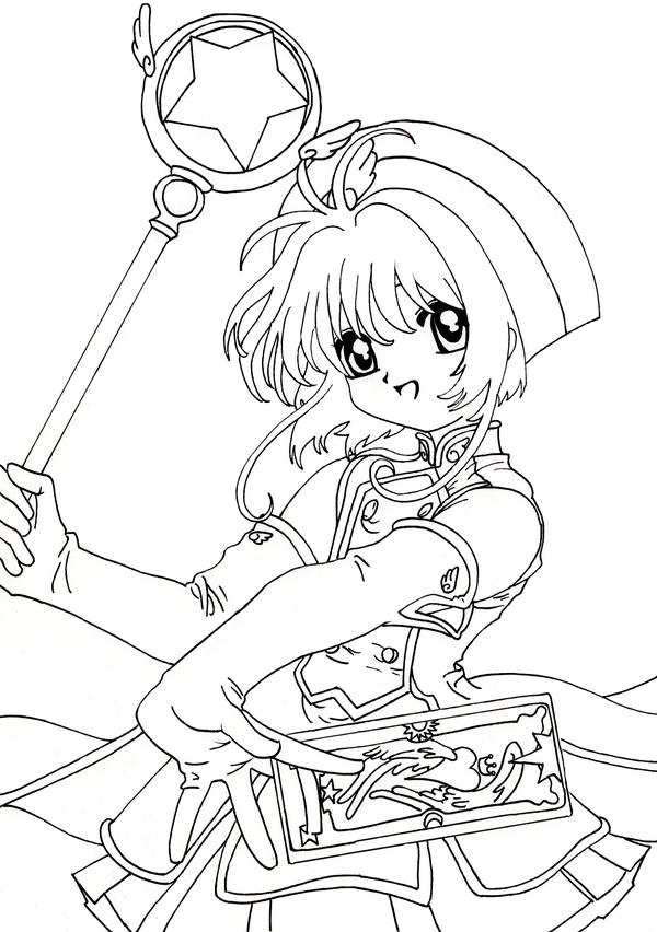 card captor coloring pages - photo#17