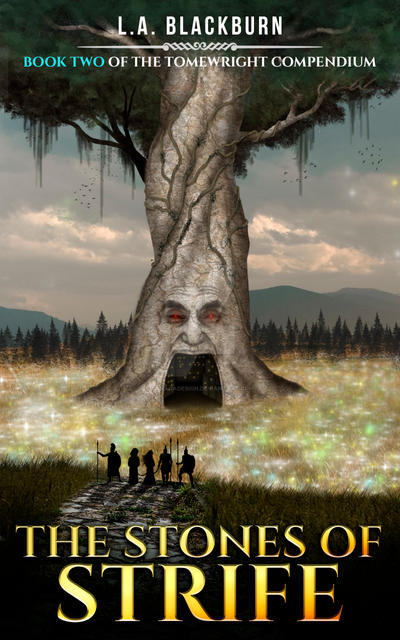 The Stones of Strife Book Cover by SanagaDesign