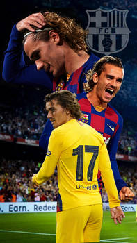 Antoine Griezmann Barcelona Poster