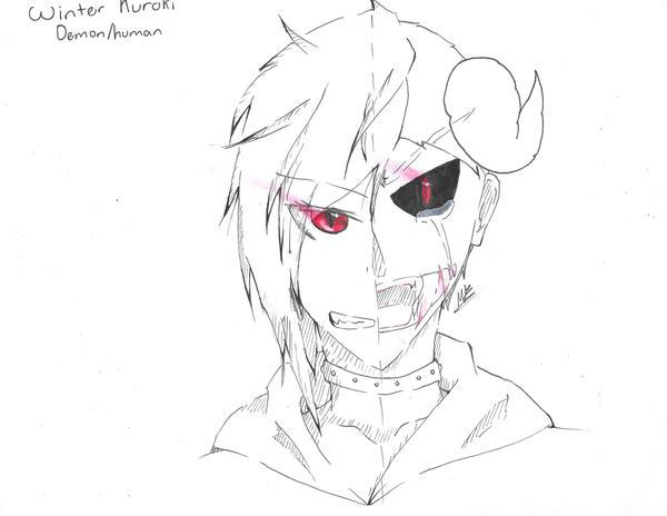 Half Human Half Demon Face