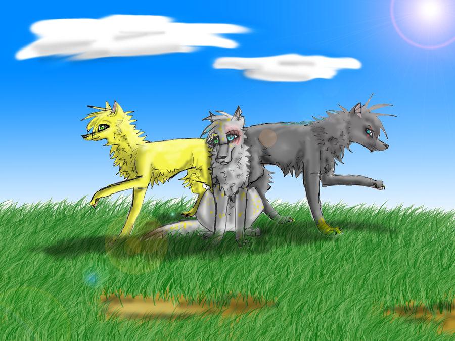 Three Main Wolves