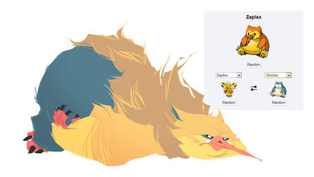 Pokemon fusion - Zaplax by carlosthemanoflove