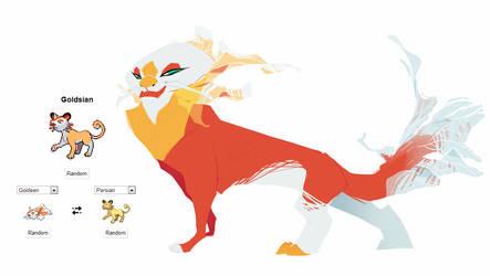Pokemon fusion - Goldsian by carlosthemanoflove