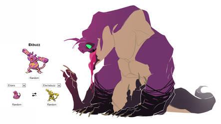 Pokemon fusion - Ekbuzz by carlosthemanoflove