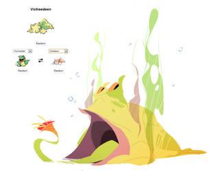 Pokemon fusion - Victreedeen by carlosthemanoflove