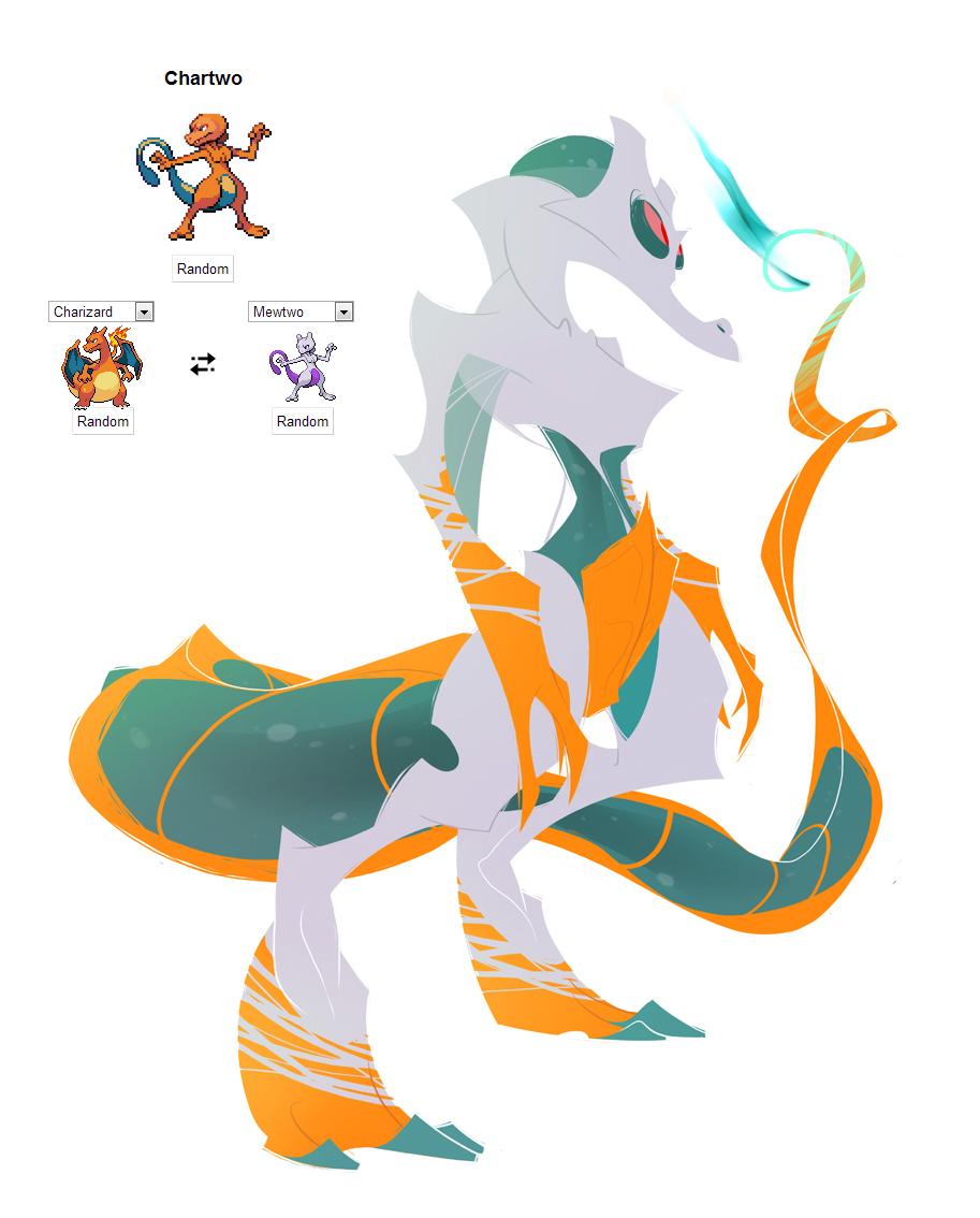 Pokemon fusion - Chartwo by carlosthemanoflove