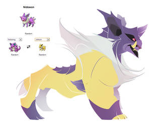 Pokemon fusion - Nidoeon by carlosthemanoflove